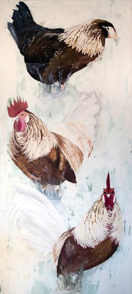 Chickens by Laura Saunders