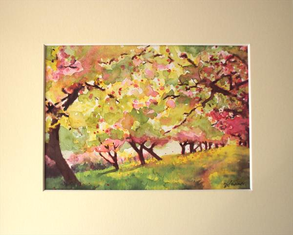 Pink Orchard impression by Teresa Tanner