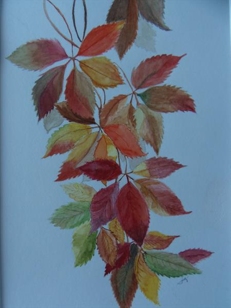 Autumn Leaves by Luz Campo de Sanmartin