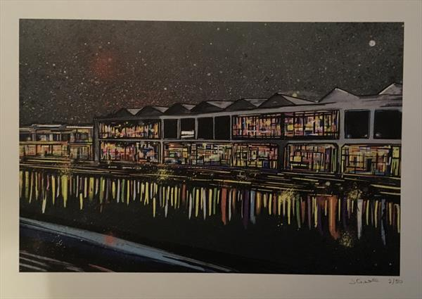 Bristol Waterfront - Limited edition print by John Curtis