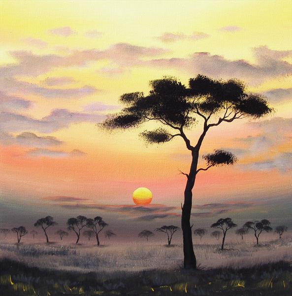 Sunset In Africa by Sarah Featherstone