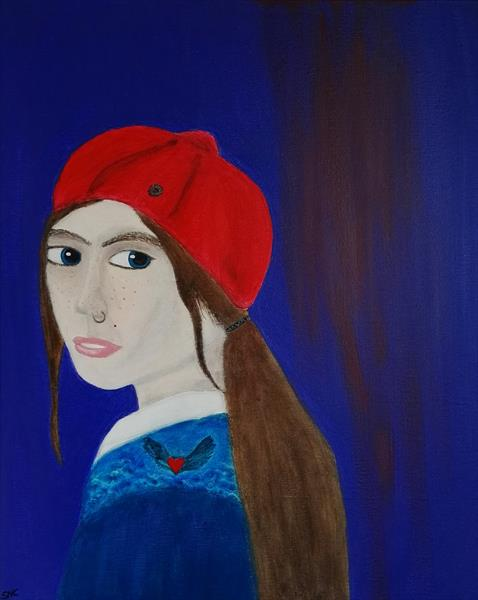 The girl with a nose piercing by Sara Naglic Curis