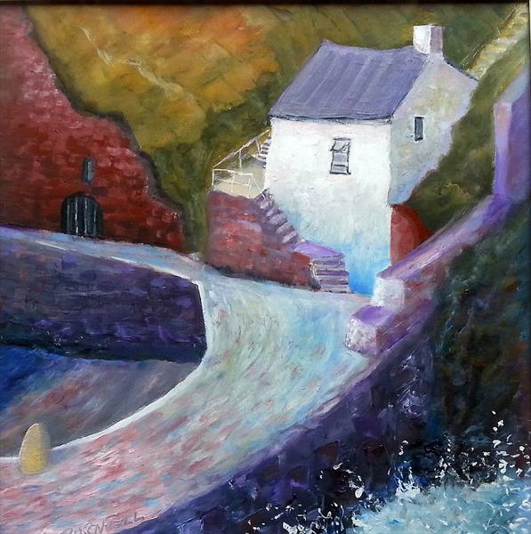 On The Harbour Wall by Ray Burnell