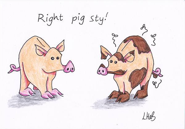 Right Pig Sty! by Lyndsey Hebblethwaite