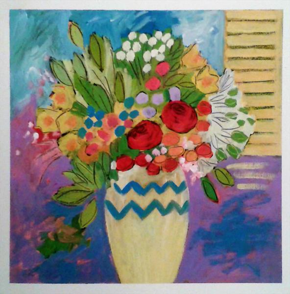 Mixed Summer Flowers by Jan Rippingham