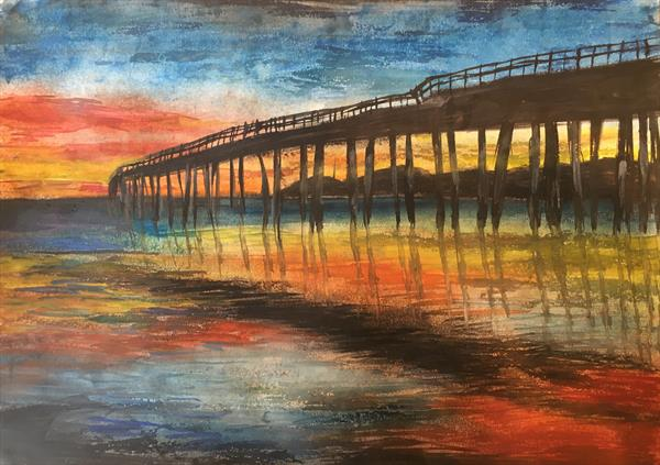 Pier at Sunset by Emma Napier