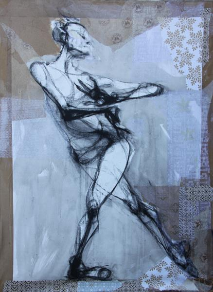 Dancer, collage. by Liane Stevenson
