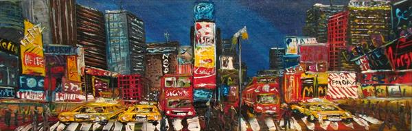 New York Times Square By night No2 by Andrew Alan Matthews