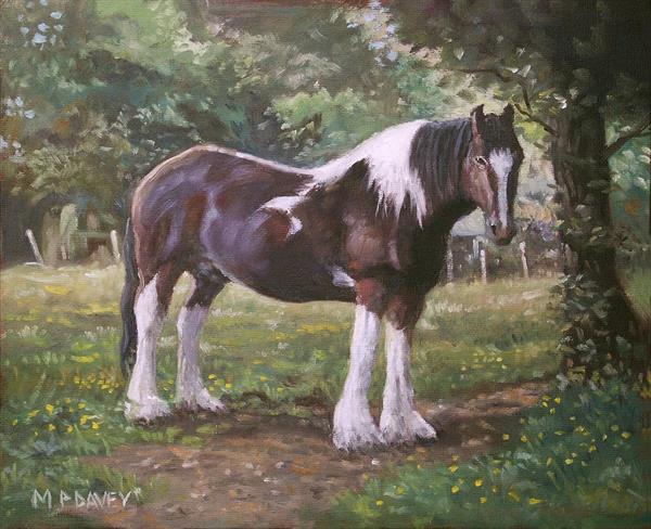 Big Horse In Field by Martin  Davey