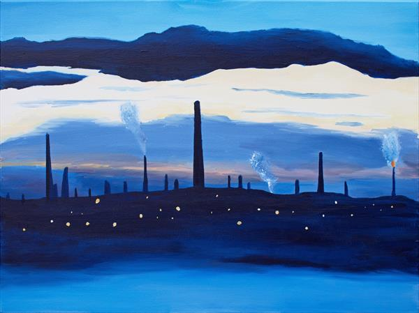 Refinery at Sunset by Ieuan Luker