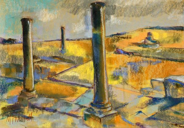 The Columns At Kourion by Michael Westall
