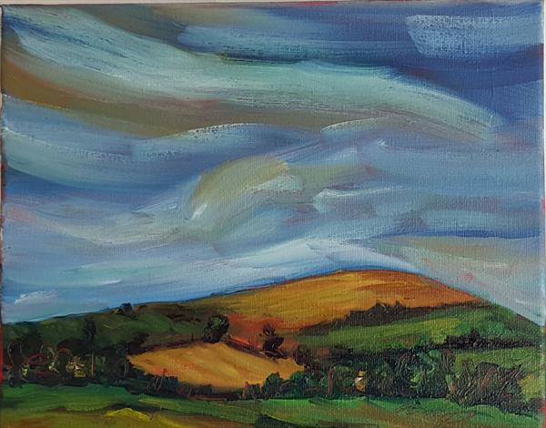 Morning skies over the rolling fields of Wicklow by niki purcell