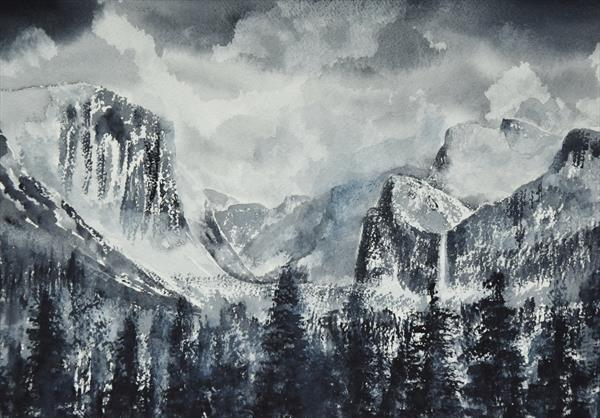 Yosemite Park in Winter by Mike Paget