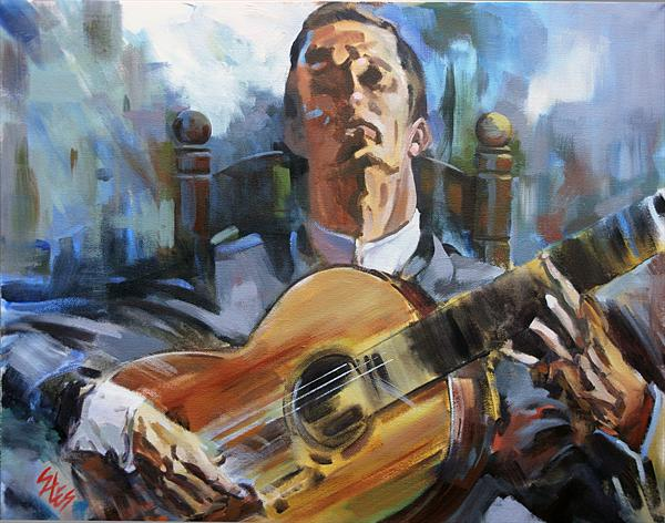 Guitarist#6 by David Sales