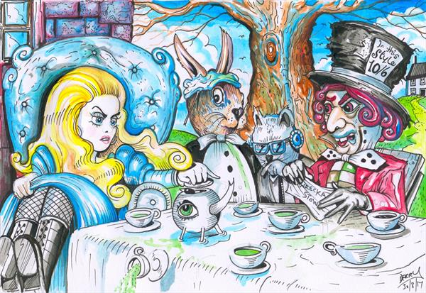 The Mad Hatter's Tea Party by Spencer   Derry