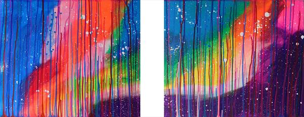 Sky Lake Beauty Diptych by susan wooler