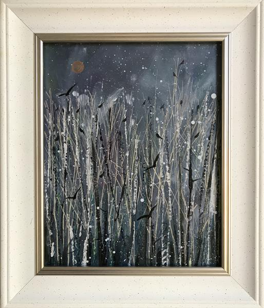 The rookery in a snowstorm ( framed original oil )