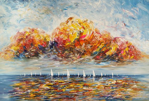 Seascape Sailing Impressions XL 7 by Peter Nottrott