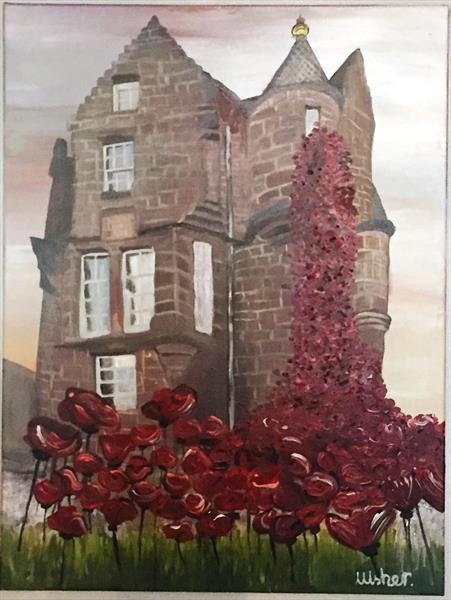 Sunset at The Blackwatch Museum - Weeping Window by Laura Usher