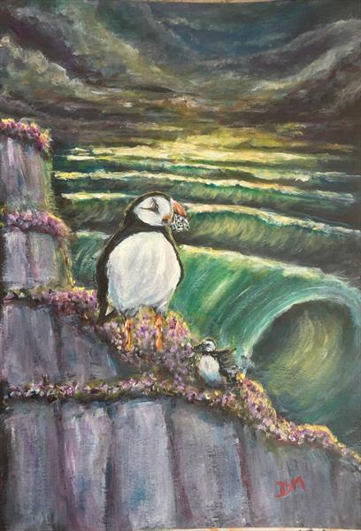 Puffin buffet  by Damion  Maxwell