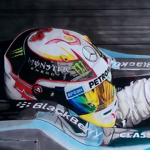 Lewis Hamilton Car 02 by Sean Wales