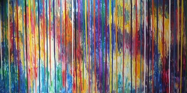 Effervescent Energy (Very Large Diptych) (Corporate Art) by Hester Coetzee