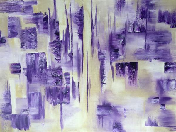 Fragmented Amethyst - Abstract  by Lucy Moore