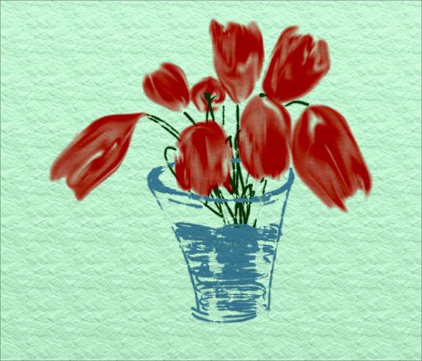 Red Flowers by Ann Mcphillips