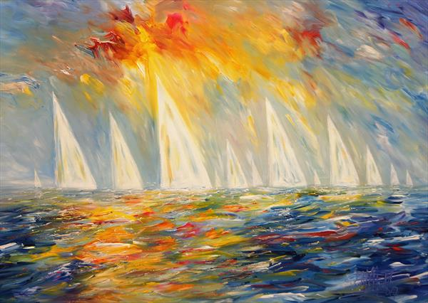 Seascape Sailing Impressions M 4 by Peter Nottrott