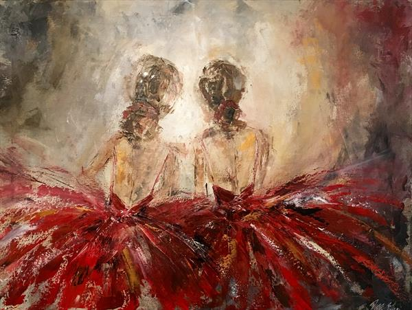 Ballerinas in the wings by Pippa Buist