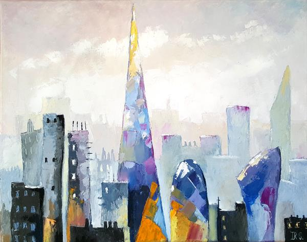 London, City view. Oil painting. by Inna Stone