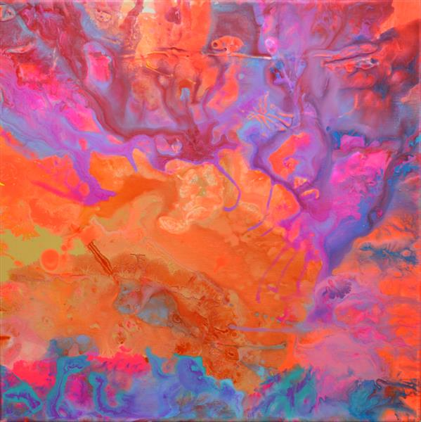 The Second Movement - Abstract Fluid Painting by Soos Tiberiu - Anton