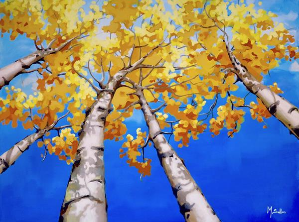3D Tall Silver Birch trees by Marilene Salles