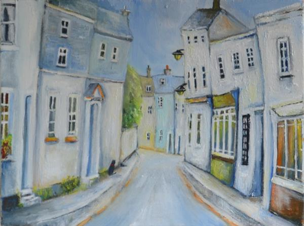 Old town Padstow by Julia Lafferty