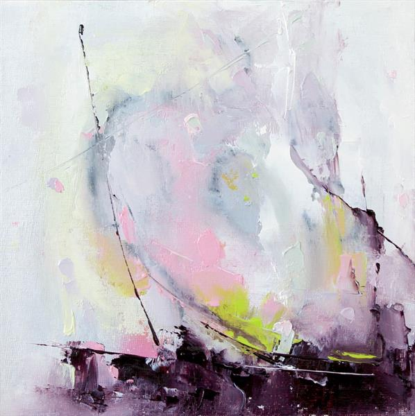 'Abstract Green & Pink 3' by Dan Wellington