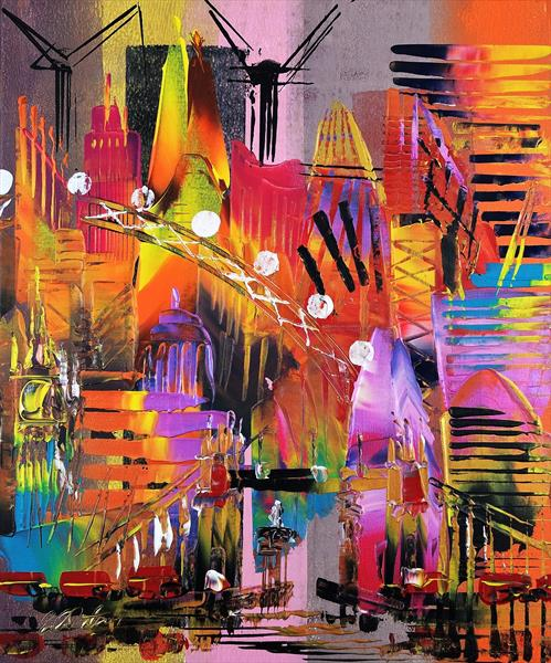 London Cityscape Abstract 685 by Eraclis Aristidou