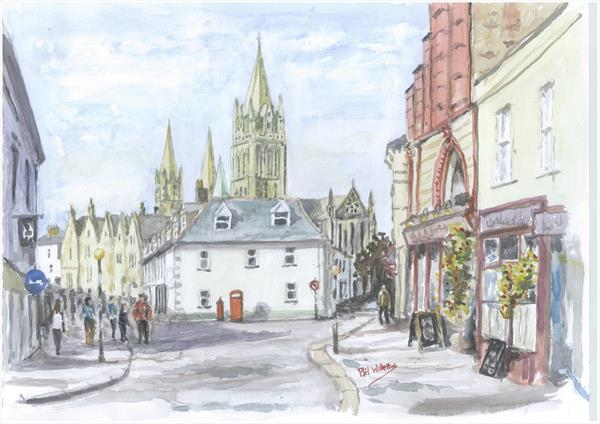 Truro Cathedral from Ouay Street by Phil Willetts