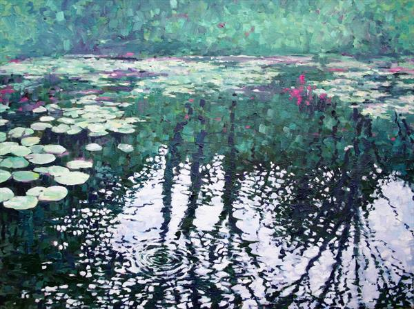 Lily Pond Reflections by Zoe Elizabeth Norman
