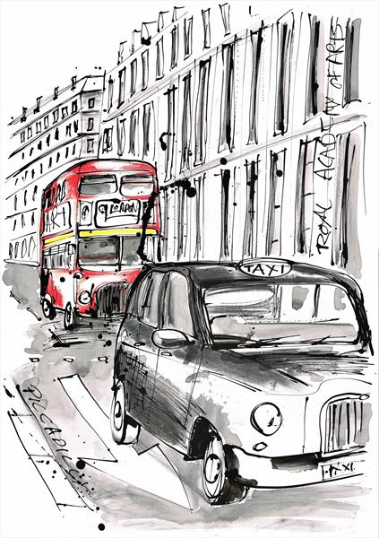 Piccadilly street scene by Keith Mcbride