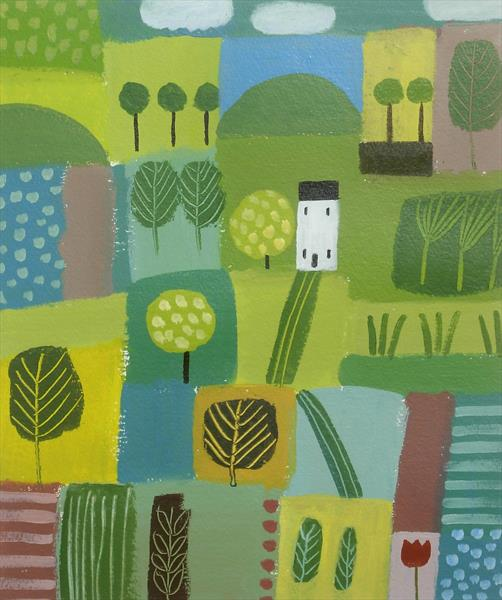 Patchwork Landscape by Jan Rippingham