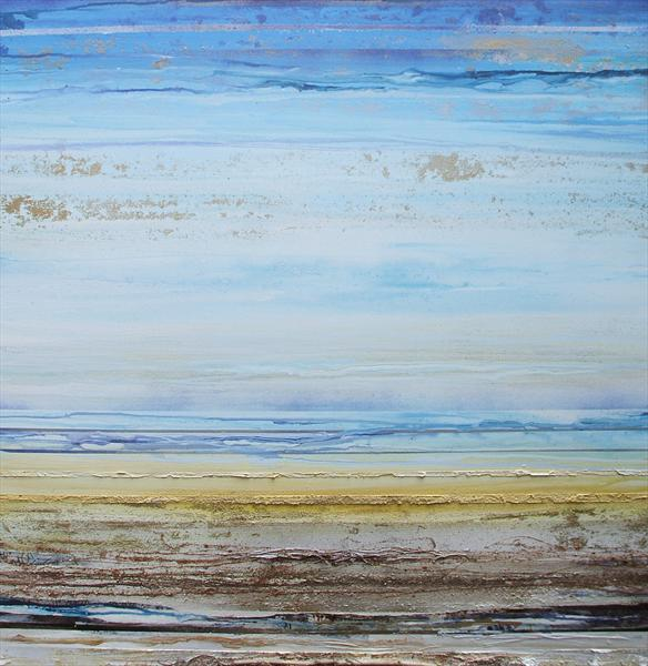 Low Tide Beach Rhythms Textures & Driftwood 6a (On Display At the Art Gallery, Tetbury) by Mike Bell