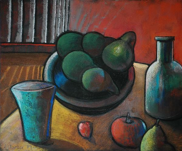 Still Life with Pears by adrian parker