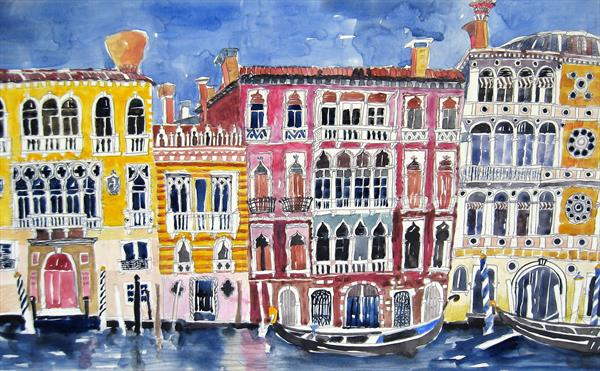 Venetian Palaces 2 by Jo KC Ellis