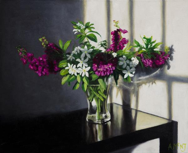 Mexican Jasmine and Stocks by Andrew Mcneile Jones
