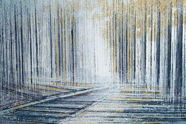 Forest Trees With White Light by Marc Todd