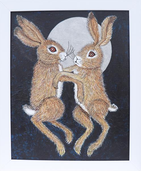 Mad March Hares by Jean Turner