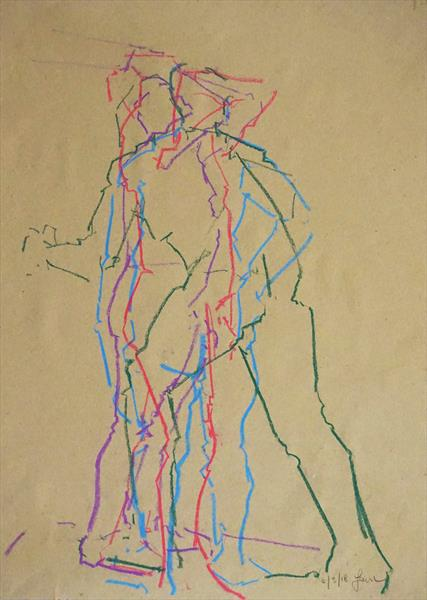 Life Drawing No 272 by Ian Mckay
