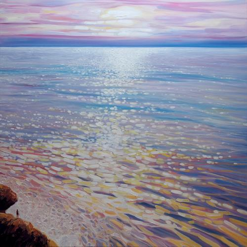 Sea Watching - a large seascape by Gill Bustamante