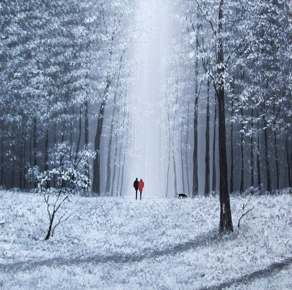Winter Forest Walk by Patricia Richards