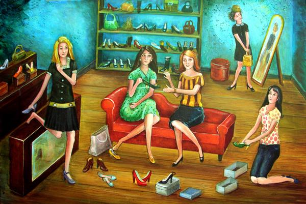Shopping for Shoes by Victoria Stanway